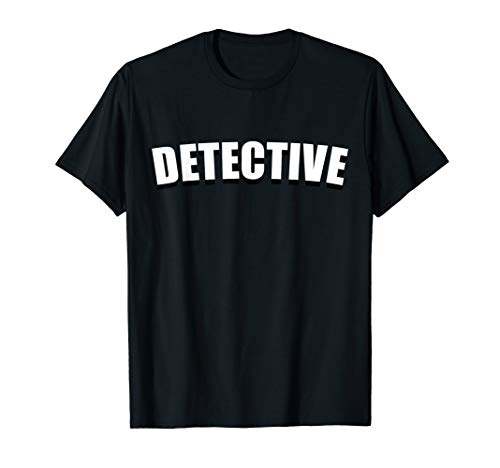 Detective T Shirt Halloween Costume Funny Cute Under Cover -