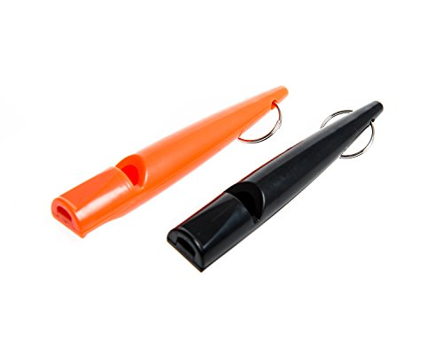 Benbulben - Twin Pack of Professional High Pitch Plastic Dog Whistle for Recall Training Complete with 2 PCS Whistles, Lanyards and Keyrings (5900 Hz)
