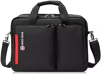 Swissgear Waterproof 15.6 inch Business Briefcase Swiss Gear Messenger Bag for Apple - Dell - Toshiba - Lenovo - Asus - Samsung - HP - MSI Laptops - Black - 2725604764131