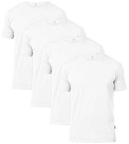 LAPASA 4 Pack Men's T-Shirts 100% Soft Premium Cotton Undershirts Short Sleeve Classic Regular Fit Assorted Colors M34