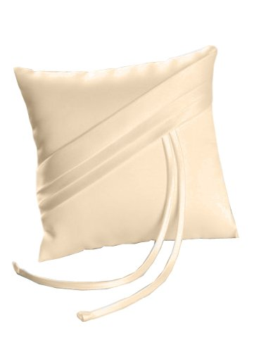 Beverly Clark Collection Audrey Ring Pillow, Ivory - Beverly Clark Ring Pillow