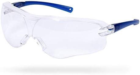 保護メガネ - スポーツ安全メガネ防塵砂と防曇旅行エッセンシャル (Color : Blue)