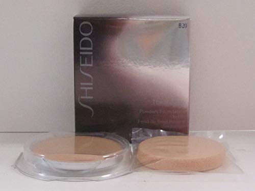 (Shiseido The Makeup Powdery Foundation Refill B20 Natural Light Beige 0.38 oz. (BNIB))