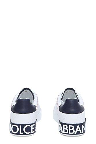 Dolce E Gabbana Hombre CS1587AH5268I671 Blanco Cuero Zapatillas