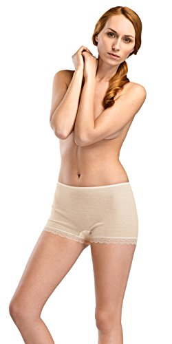 - HANRO Women's Woolen Lace Boyleg, Vanilla, Small