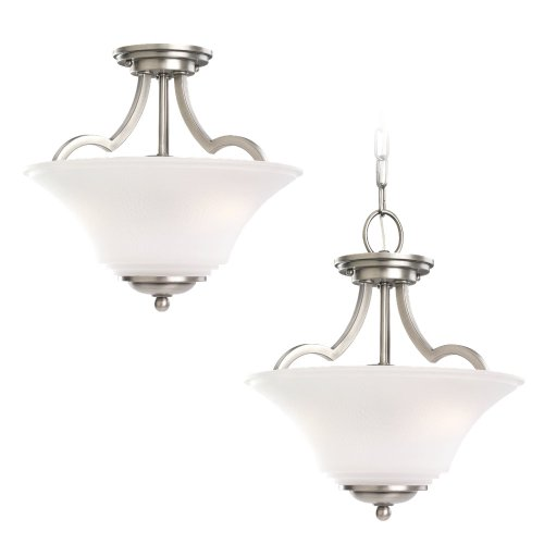 Sea Gull Lighting 77375-965 2-Light Somerton Semi-Flush Convertible Fixture, Russet Bronze