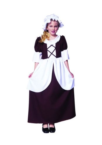 RG Costumes Colonial Girl Costume, Brown/White, Large from RG Costumes