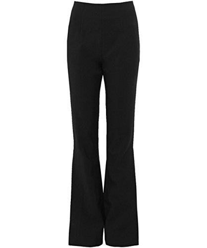 Solace London Mujeres pantalones acampanados ray Negro Negro
