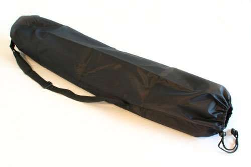 Rolling Sands Extra Long Yoga Mat Bag, Black Rolling Sands Harmony MatBag-ExtraLongNylDraw