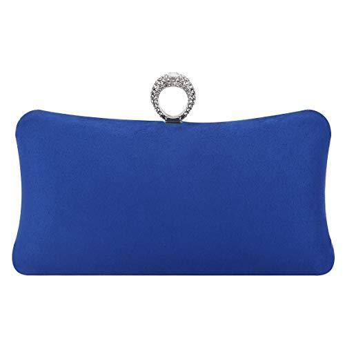 (Fawziya Bling Ring Clutch Purse Women Rhinestone Clutch Evening Bags And Clutches-Royal Blue)
