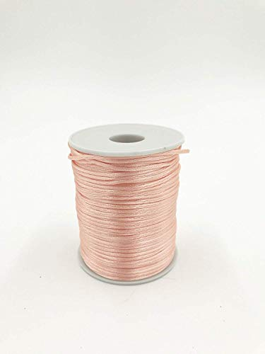 Craft and PartyRattail Satin Nylon Trim Cord Chinese Knot (Blush) Colored Satin Ribbon Trim