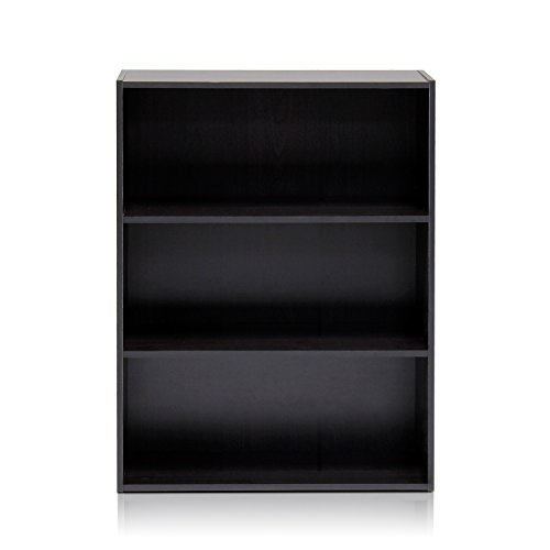 Furinno 11208EX Pasir 3-Tier Open Shelf, (3 Tier Bookcase Shelf)