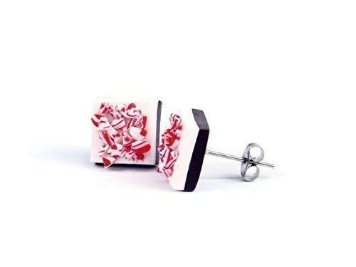 Christmas Peppermint Candy Stud earrings