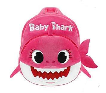 Kids School Backpack, Eabr Baby Shark School Bag for Children Kids Cute Plush School Backpack Boys Schoolbag - Backpack Kids Plush
