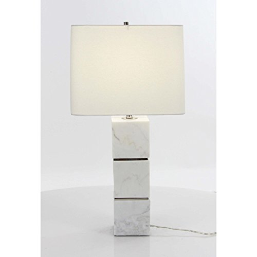 Benzara Metal Table Lamps Bm118580 Benzara Artistic Marble Metal Table Lamp 13 X 27 X 13 Inches White