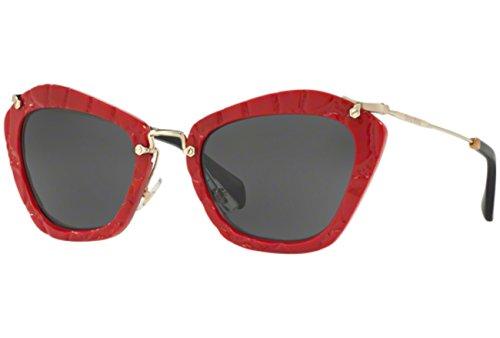 MIU MIU Sunglasses MU 10NS USX5S0 Red - Glasses Miu Miu Red