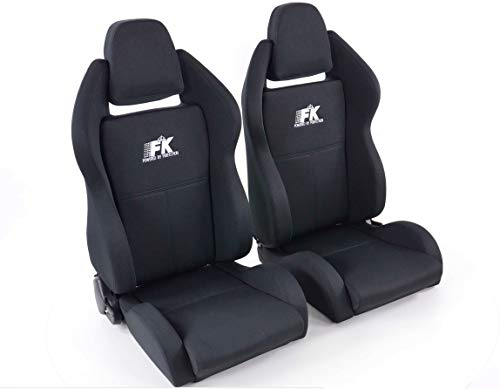Pair of Ergonomic Performance FK Sport Seats Half Bucket Seats Set Race 5 with Heating and Massage: