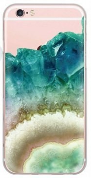 iPhone, DECO FAIRY Green Purple Stones Protective Case Bumper(Scratch-Resistant) Ultra Slim Translucent Silicone Clear Case Gel Cover for Apple (iphone (Disney Iphone 5s Silicone Case)