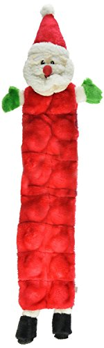 - Outward Hound Kyjen  32097 Squeaker Mat Santa Holiday 16 Squeaker Plush Squeak Toy Dog Toys, Large, Red