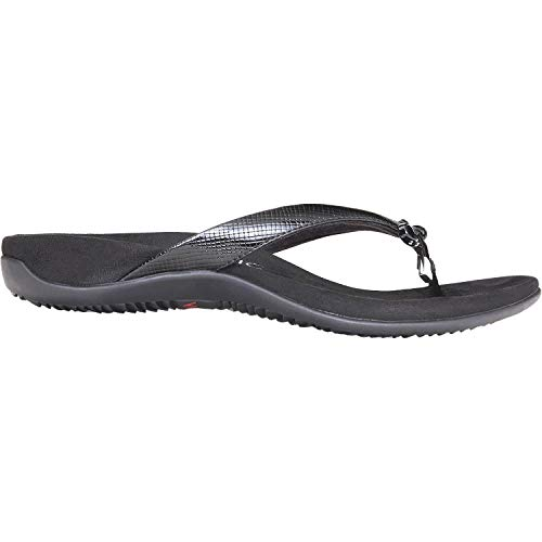 Vionic Women's, Bella II Thong Sandal Black Lizard 8 M ()