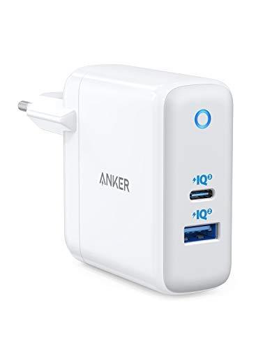 GaN PowerPort+ Atom III MacBook per Laptop USB-C iPhone Galaxy 2 Porte Porta USB-A PIQ 2.0 Pixel e Altro Adatto a Tutto Anker Caricatore USB-C da 60/W iPad PRO PIQ 3.0 e tecn