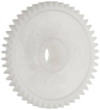 Plastic PowerDrive 05M048B5 Polyoxymethylene Spur Gear, 20 Degree Pressure Angle, 48 Teeth x 5mm Bore x 24mm Pitch Diameter 0,5 Module