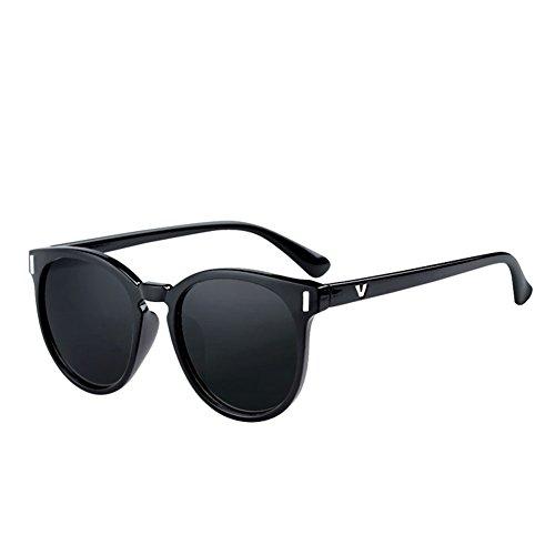 conducción Gafas señora 2 DT UV Gafas de Sol Cara de Gafas Retro de Redonda de 3 protección Sol de Color xqCIOYwnIH