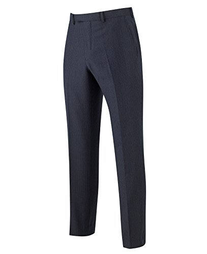 The Savile Row Company Savile Row Men's Navy Pinstripe Business Suit Trousers 34'' 32'' by The Savile Row Company (Image #2)