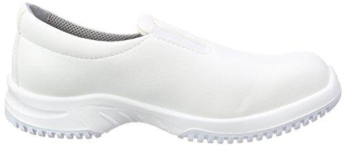 Proteq Sicherheitsschuhe Uni6 1740 Slipper S2 Küchengeeignet Stahlkappe - Calzado de protección Unisex adulto Blanco - blanco