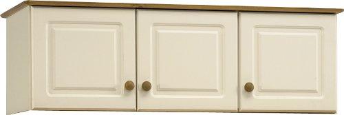 Pine Triple Wardrobe - Steens Richmond 3 Door Wardrobe Top Box, Cream