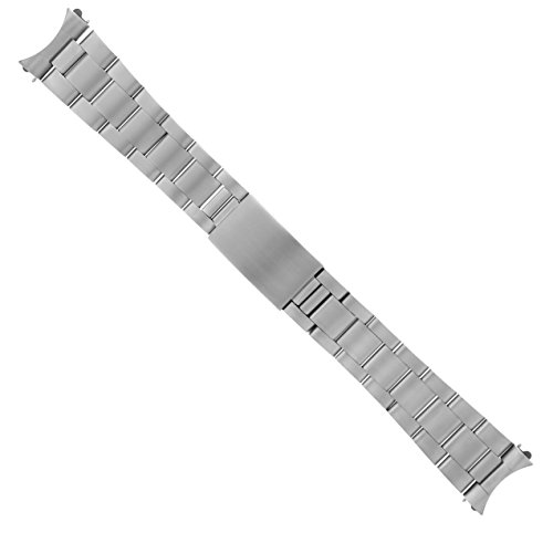 OYSTER WATCH BAND S.STEEL BRACELET FOR ROLEX GMT, DATEJUST MATTE 20MM HEAVY