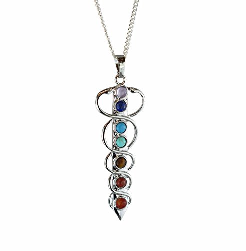 Amazon kundalini chakra yoga meditation silver plated pendant kundalini chakra yoga meditation silver plated pendant with real gemstones aloadofball Gallery