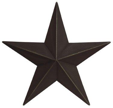 Dimensional Steel Metal Barn Star, 12-inch, Black Textured Matte (Medium Barn Star)