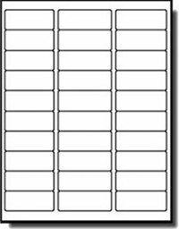 Removable/Adjustable White Address labels 1