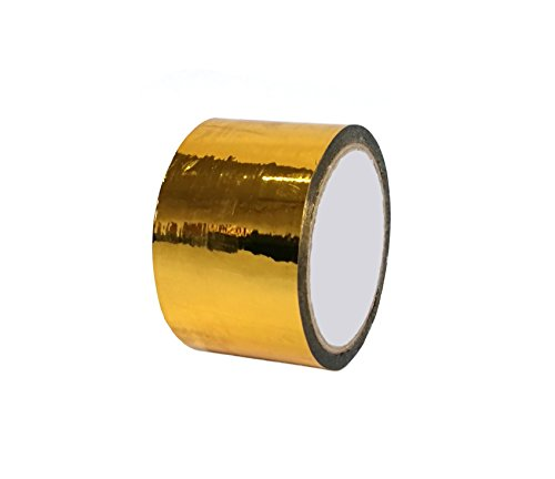 Gold Foil Tape - Metallic Tape Mirror Tape Duct Tape DIY Decorative Tapes, 2.4 Inches x 55 Yards (Gold)