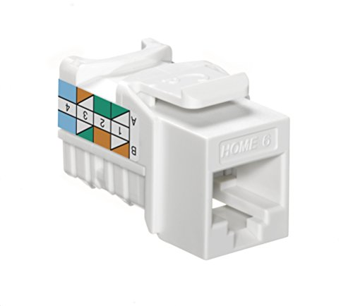 (Leviton 61HOM-RW6 Home 6 Snap-In Connector, T568A/B Wiring, White )