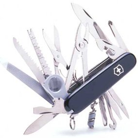 Victorinox Swiss Army SwissChamp Pocket Knife, Black
