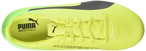 Puma Evospeed 17.5 AG Jr, Botas de Fútbol Unisex Niños Amarillo (Safety Yellow-puma Black-green Gecko 01)