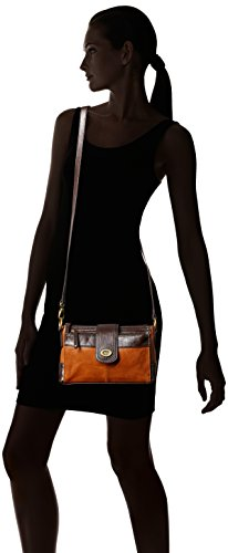 Walnut Tignanello Crossbody Function Protection Vintage Status One W Size RFID qwqxPOS0