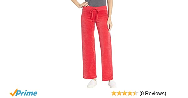 e9e59d3a1a4 Amazon.com: Juicy Couture Women's Mar Vista Velour Pants Cordial  Petite/X-Small 33: Clothing