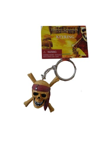 Pirates of the Caribbean 3 Skull and Crossbones PVC Figural Key Ring