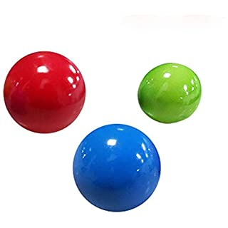 (3 PCS) Stress Relief Balls Luminous Sticky Ceiling Balls Juggling Ball Sticky Ball Game Catch Ball for Children Parents, Can Be Glued to The Ceiling or on The Wall, Stress Relief Toys, Random Color