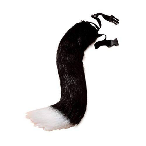 (Yamalans Faux Fur Fox Tail Adjustable Furry Wolf Tail Carnival Party Cosplay Costume Supplies)