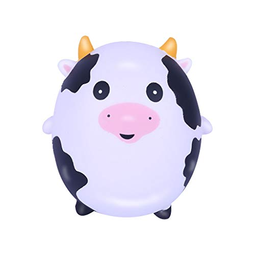 (Cyswi Hand Toy for Stress Cute Anti-Stress Adorable Milk Cow Fun Ball Animal Shape Squeeze Healing Easter Gift Slow Rising Kids Spoof Toys Soft Squishy Pressure Reliever Colorful Decompression)