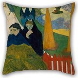 Elegancebeauty 16 X 16 Inches / 40 By 40 Cm Oil Painting Paul Gauguin - Arlésiennes (Mistral) Throw Pillow Case ,two Sides Ornament And Gift To Couch,lover,son,deck Chair,lounge,home Office
