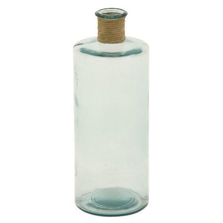 Glass Vase with Raffia, Multi Color ()