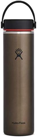 ハイドロフラスク 真空ボトル 保冷 保温 軽量 24oz(709ml)トレイルシリーズ ワイドマウス 58オブシディアン