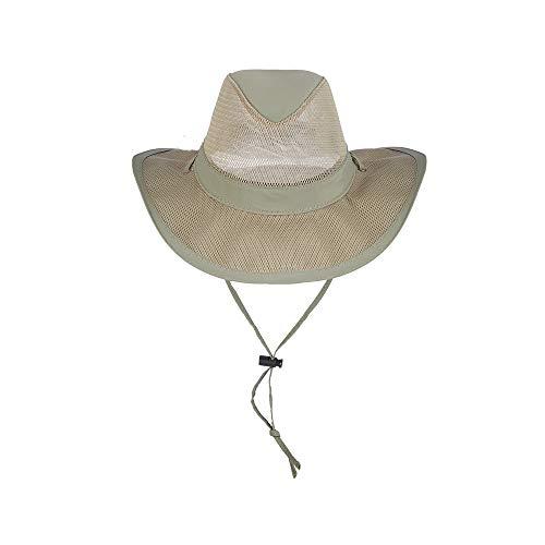 Dorfman Pacific Co. Men's 7 Piece Suplex Pinch Front Safari Hat, Fossil, XX-Large