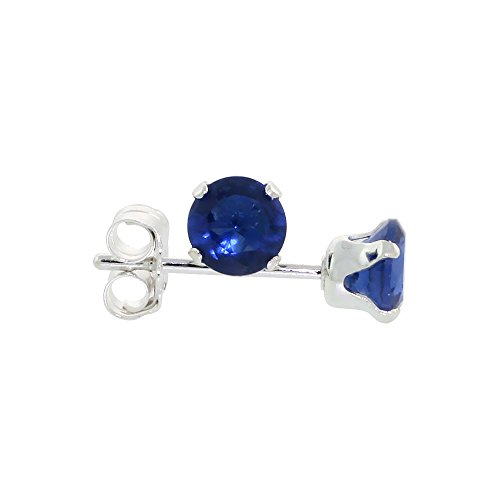 Sterling Silver Zirconia Sapphire Earrings
