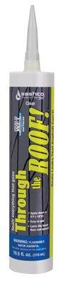 - Sashco Sealants 14010 Elastomeric Roof Sealant, Clear, 10.5-oz. Cartridge - Quantity 12
